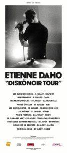 Etienne Daho, affiche festival diskonoir tour