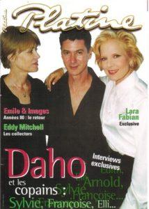 Etienne Daho avec Françoise Hardy et Sylvie Vartan en couverture du magazine Platine en novembre 1999.