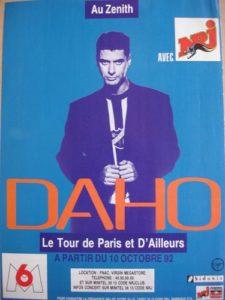 Etienne Daho affiche paris ailleurs tour