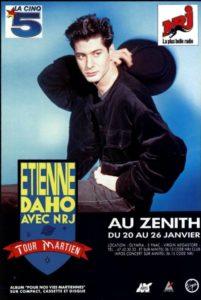 """Etienne Daho affiche de la tournée """"tour martien"""""""