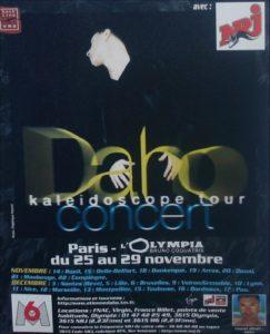 Affiche annonçant le concert d'Etienne Daho à l'Olympia lors de la tournée du Kaleidoscope tour.