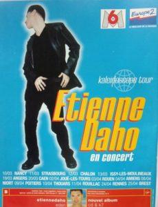 Affiche annonçant la tournée d'Etienne Daho intitulée Kaleidoscope tour.