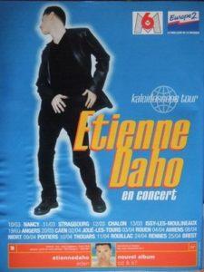 Etienne Daho affiche du kaleidoscope tour