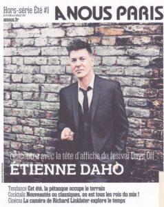 Etienne Daho e couverture de A nous paris 30 juin 2014