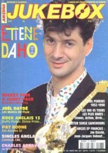Etienne Daho fait la couverture du magazine Jukebox du mois de mars 1998.