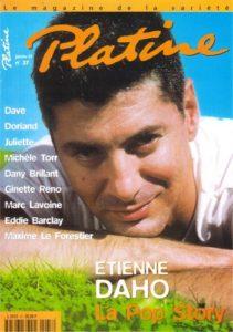 Etienne Daho fait la couverture du magazine Platine en janvier 1997.