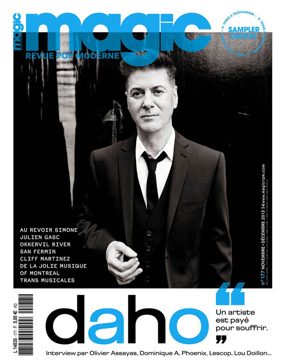 Etienne Daho en couverture Magic novembre 2013