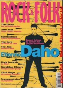 Etienne Daho fait la couverture du magazine Rock & Folk du mois de décembre 1997.