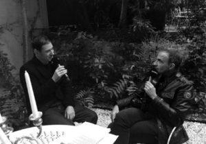 Etienne Daho et Nikos Aliagas dans les jardins de l'Hôtel Particulier à Montmartre - photo 2017