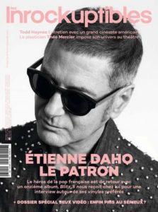 Etienne Daho fait la couverture du magazine Les Inrockuptibles en novembre 2017