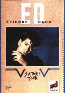 Etienne Daho, affiche du Satori tour