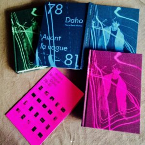 """Les jaquettes du livre """"Avant la vague Daho 78-81"""" de Pierre René-Worms et Sylvie Coma."""