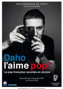 """L'affiche de l'exposition """"Daho l'aime pop"""" à la Philharmonie de Paris."""