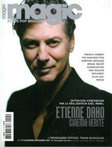 Etienne Daho en couverture de magic novembre 2007
