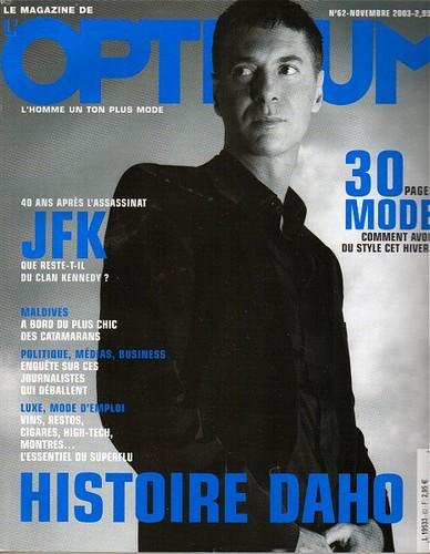 Etienne Daho couverture Optimum novembre 2003