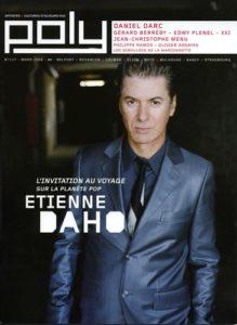Etienne Daho en couverture du magazine Poly mars 2008