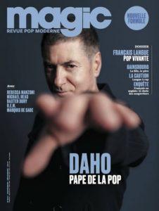 Etienne Daho fait la couverture du magazine Magic en novembre 2017