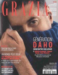 Etienne Daho fait la couverture du magazine Grazia en novembre 2017
